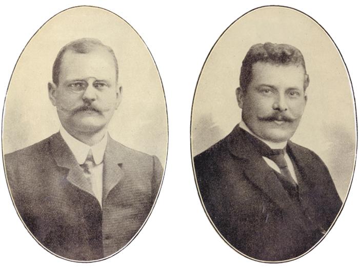 v.l.n.r. Hermann Schlegel, Hugo von der Heyden